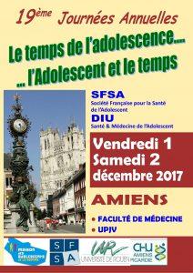 19 èmes journées annuelles SFSA-DIUà Amiens les 1 et 2 décembre 2017