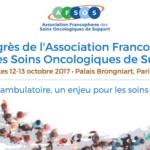 Congrès national des Soins Oncologiques de Support les 12-13 octobre 2017